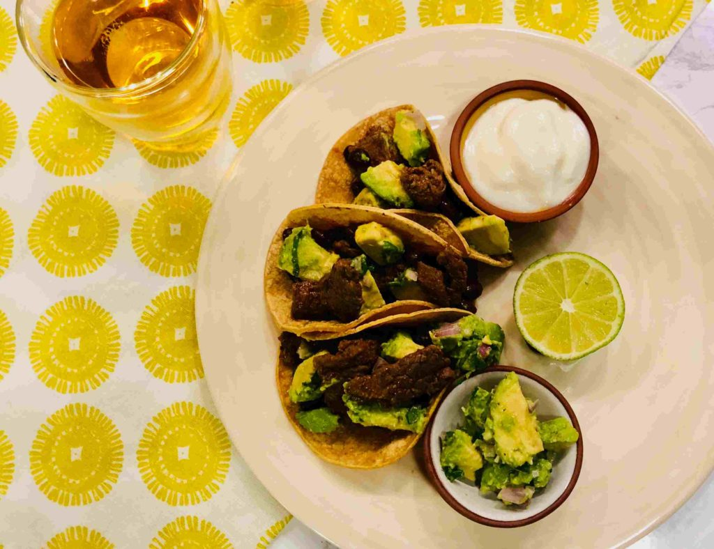 Spicy mojo marinated steak fajitas by Sun Basket