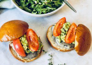 Plated Mushroom Burger