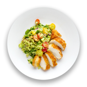 Parmesan Crusted Chicken with Lemon-Basil Orzo Salad