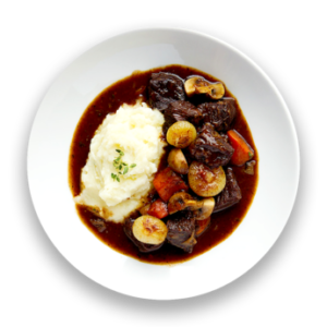 Beef Bourguignon with Mashed Potatoes