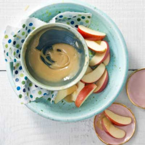 Quick Salted Caramel Sauce and Apple Slices