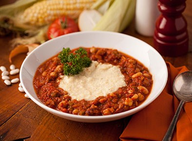 Beef Chipotle Chili with Corn Pudding