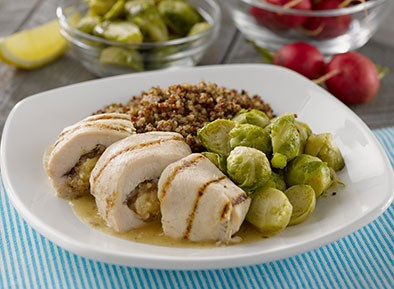 Apple and Cherry Stuffed Chicken Breast