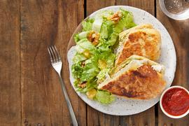 Pesto Chicken Paninis with Orange & Walnut Salad