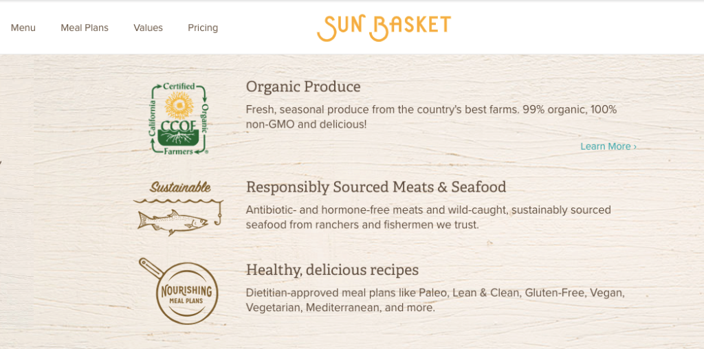 Sun Basket Website