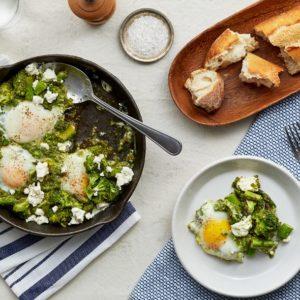 Green Shakshuka with Organic Eggs