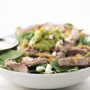 Chipotle Steak and Guacamole Salad