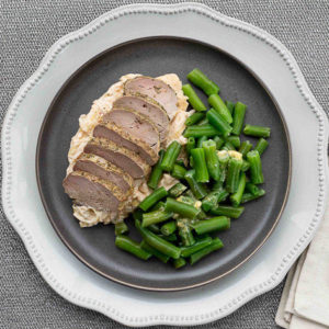 Pork Tenderloin with Cabbage Casserole