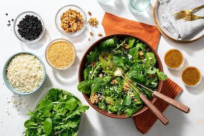 Organic protein crunch salad
