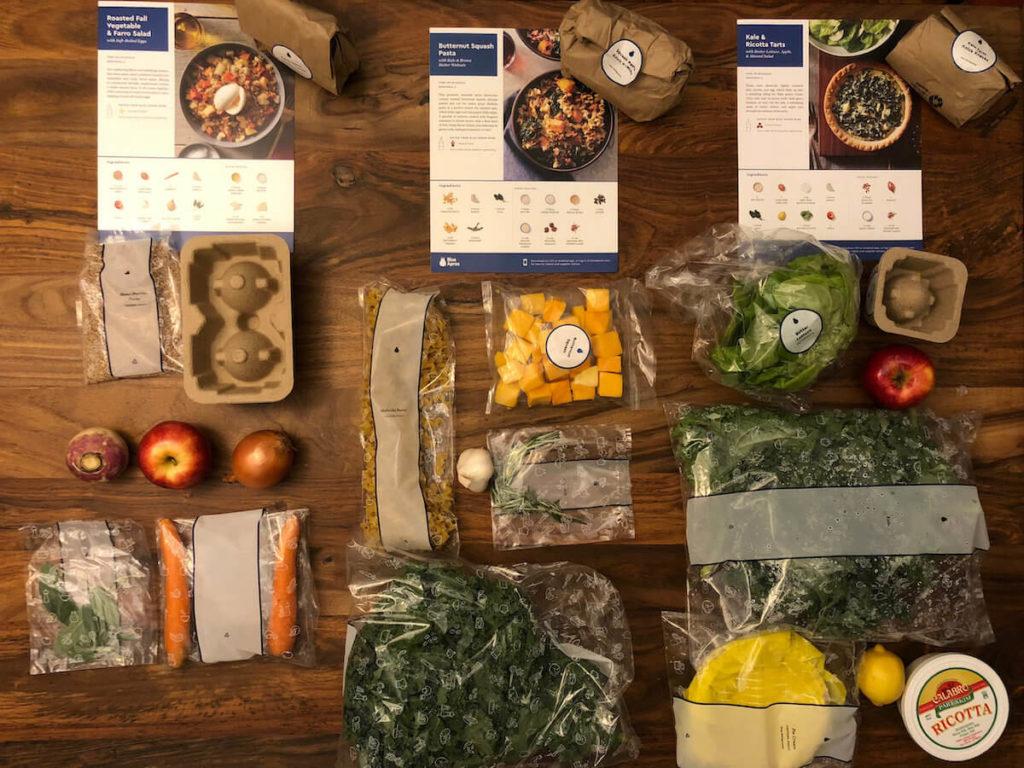 blue apron veggie box