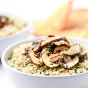 Triple Mushroom Risotto