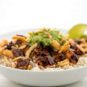 Chicken Mole Rice Bowl