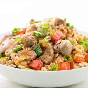 Cajun Chicken Thigh & Italian Sausage Dirty Rice