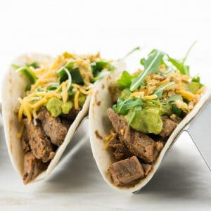 Snappy Steak & Guacamole Taco