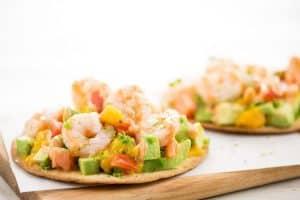 Ceviche-Style Shrimp Tostadas home chef