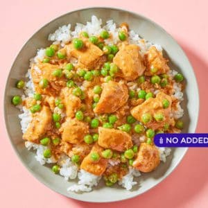 Thai Coconut Curry Chickenwith Peas & Sticky Rice