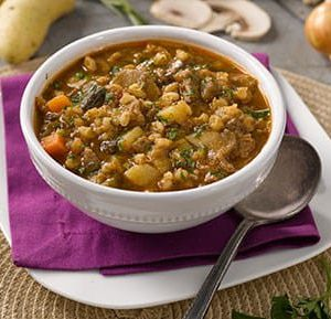 Beef, Vegetable and Barley Soup