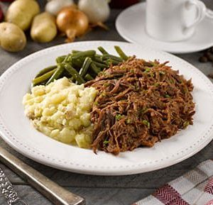 Hickory Smoked BBQ Beef with Yukon Gold Potatoes