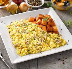 Chicken Sausage and Egg Scramble