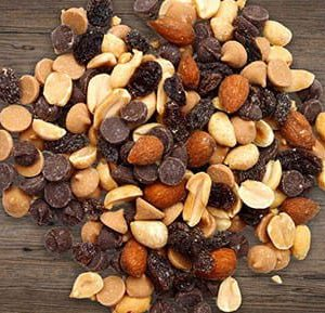 Mixed Nuts with PB and Chocolate