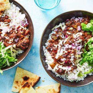 Rice & Bean Burrito Bowls