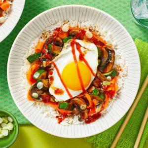 Veggie Bibimbap Rice Bowl