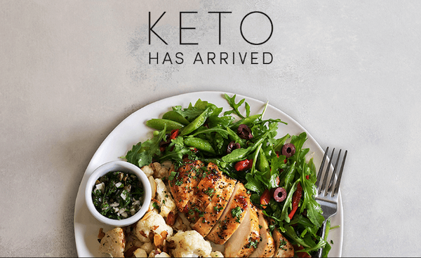 Keto green chef menu