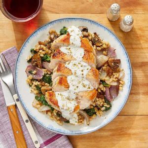 Seared Pork Chops & Tzatziki blue apron