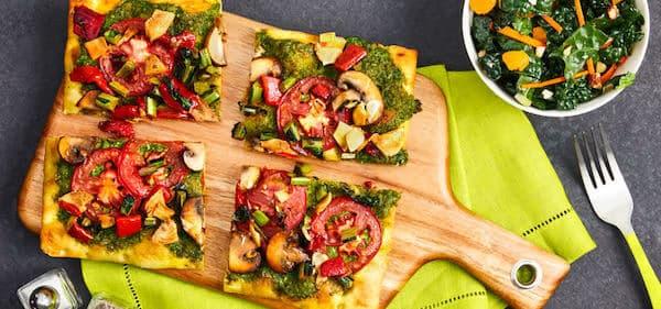 green chef vegetarian VEGGIE & PESTO FLATBREADS